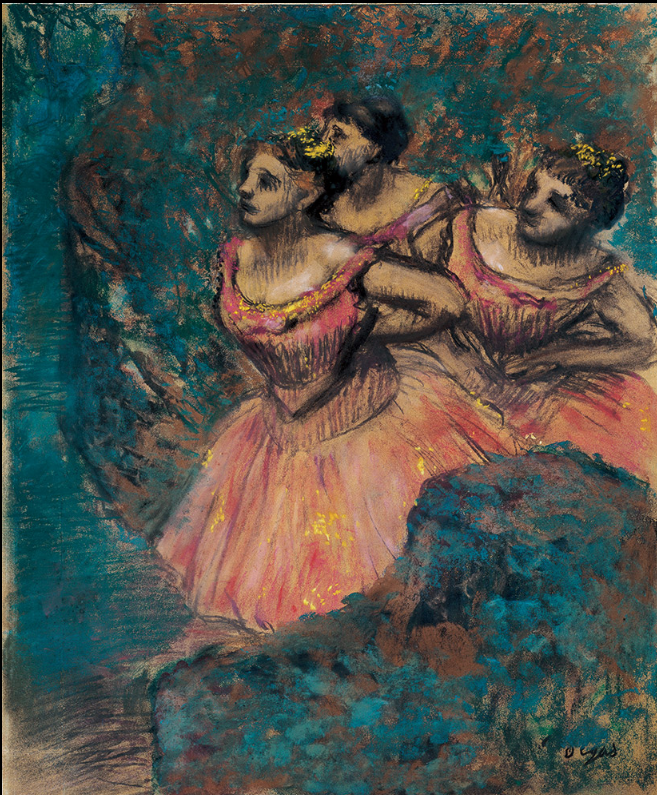 Three Dancers in Red Costume, Edgar Degas